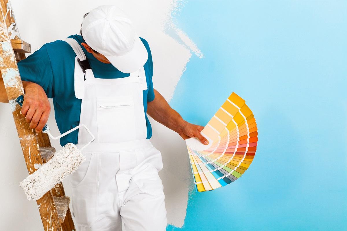 Maler mit Farbpalette Hugo Groll Malerbetrieb Bochum