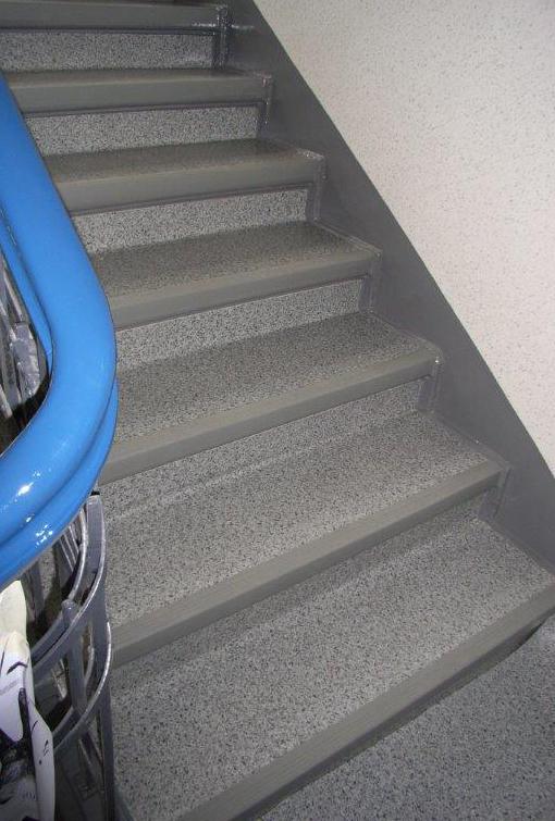 Bodenbelag im Treppenhaus Hugo Groll Malerbetrieb Bochum
