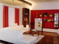 Rot gestrichenes Wohnzimmer Hugo Groll Malerbetrieb Bochum