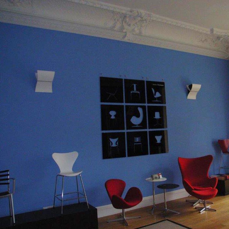 Blaue Wände Hugo Groll Malerbetrieb Bochum