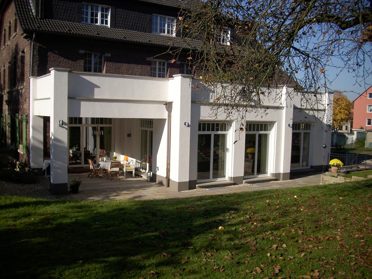 Gestrichene Fassade Anbau Hugo Groll Malerbetrieb Bochum