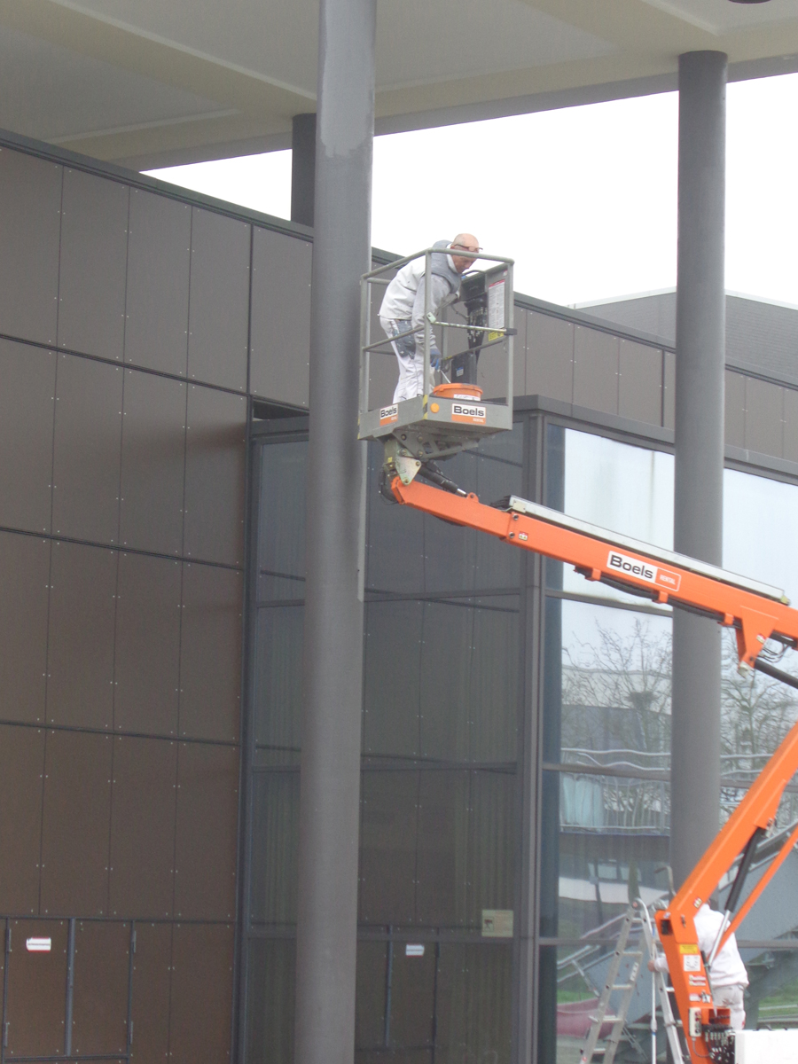 Malerarbeiten an Säulen Hugo Groll Malerbetrieb Bochum