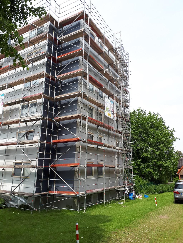Fassade mit Gerüst Hugo Groll Malerbetrieb Bochum